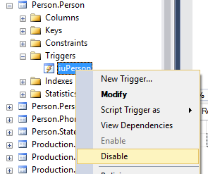 disable_Trigger_ssms